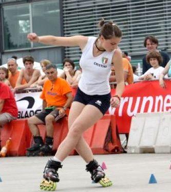 Cristina Rotunno, atleta Acquario, convocata al raduno della Nazionale Italiana di pattinaggio Freestyle il 13 Maggio 2012.