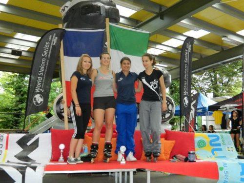 Cristina Rotunno della società Acquario porta sul web lo sport del pattinaggio in linea