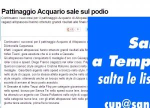 Articolo del Tirreno Torneo Italiano Tiezzi 2012 Acquario