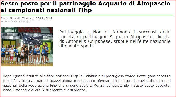 Di Lucca acquario Altopascio pattinaggio freestyle Monza