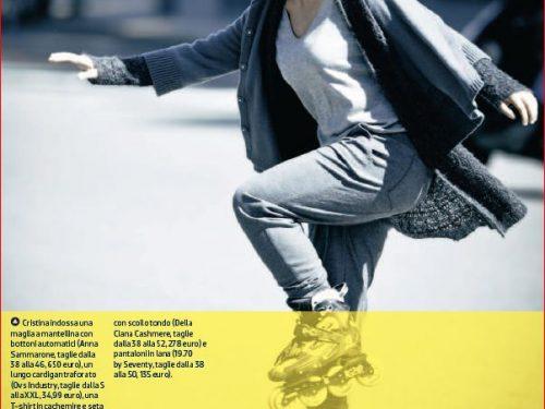 Donna Moderna : la moda ed il pattinaggio in linea con Rotunno, Bossi, Lualdi e Barlocco