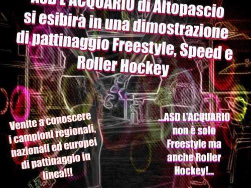 L'Acquario Altopascio dimostrazione di pattinaggio in linea freestyle ed hockey alla Piscina di Capannori, 9 settembre ore 15:00