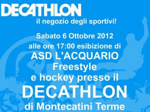 Dimostrazione di freestyle al Decathlon di Montecatini, 6 ottobre 2012, l'Acquario pattinaggio in linea