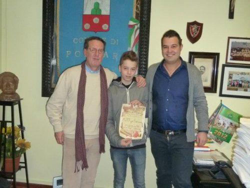 Premiata a Porcari la squadra di pattinaggio L'Acquario e Filippo Sansoni Campione Italiano UISP di pattinaggio.