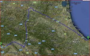 Lucca a Gabicce Percorso