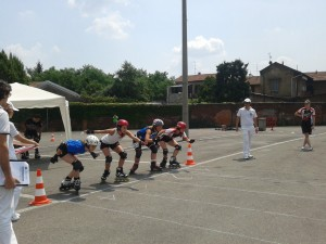 Acquario pattinaggio finale rollercross Busto 2013 Rotunno - Zanobini