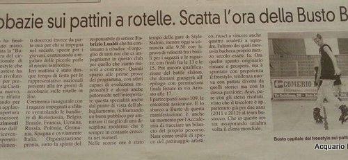 RISULTATI BUSTO BATTLE IV 2013 PATTINAGGIO FREESTYLE INTERNAZIONALE