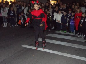 Festa Halloweeen sui pattini a Porcari 2013 Diavolessa