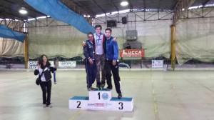 Lucca 2014 FIHP Podio 1-2-3 Speed Pattinaggio Ulivieri-Quiriconi-Moscatelli