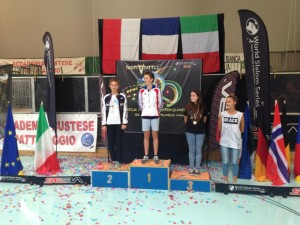Podio Speed Juniores Femminile EFSC 2014
