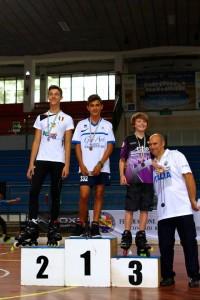 Coppa Italia Novara 2014 - Podio Speed Allievi Maschile - 1° Diego Franco