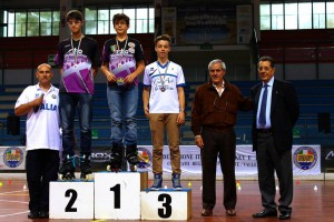 Coppa Italia Novara 2014 - Podio Speed Senior Maschile - 3° Filippo Sansoni