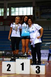Coppa Italia Novara 2014 - Podio Speed Seniores Femminile