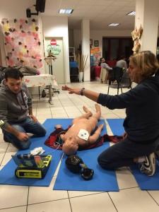 Defibrillatore Daniel Abbate e Antonella Carpanese Acquario al Corso