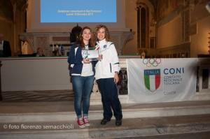Premio Centenario del Coni a Lucca Cristina Rotunno dicembre 2014