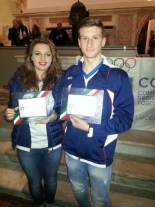 Premio Coni a Cristina Rotunno e Andrea Rotunno nel Pattinaggio