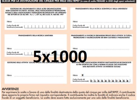 730 2015 – CONTRIBUISCI CON IL 5X1000 ALLA TUA ASSOCIAZIONE SPORTIVA  L'ACQUARIO