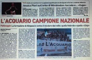 Società Campione Italiana Freestyle Acquario Pattinaggio 2015 UISP -Antonella Carpanese