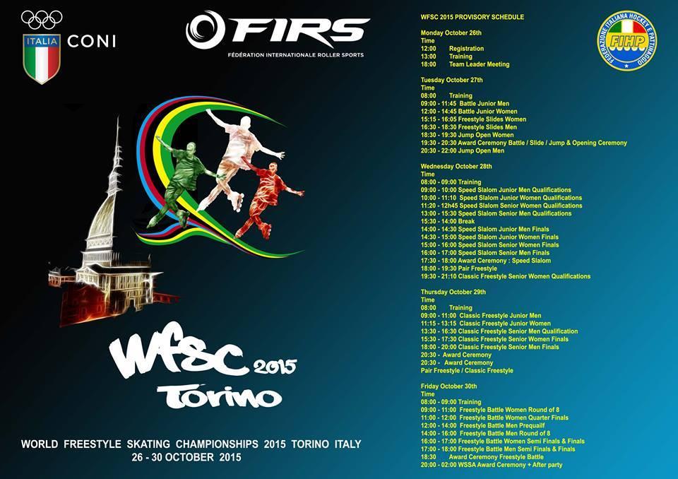 Torino 2015 il Programma Mondiale