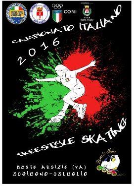 CAMPIONATO ITALIANO PATTINAGGIO FREESTYLE 30 GIUGNO e 1 – 2 – 3 LUGLIO 2016