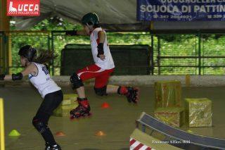 Lucca Rollercross fase della gara pattinaggio 4