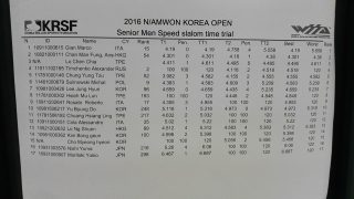 Pattinaggio Tempi Speed Korea GianMarco Rosato 2016