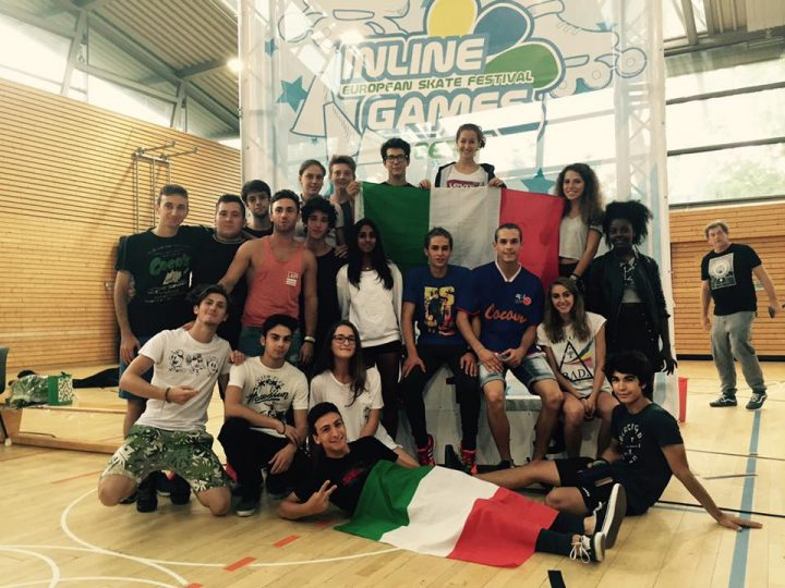 Team Italy at the 2016 Inline games Berlin