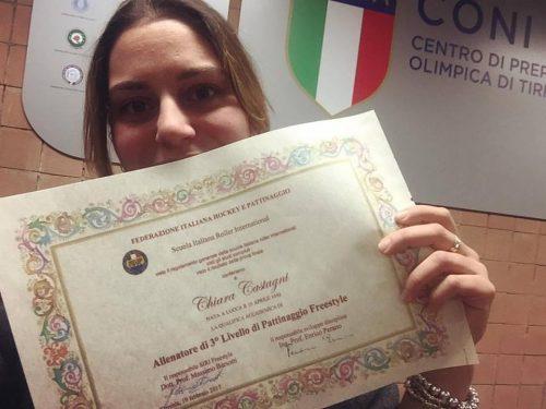CHIARA CASTAGNI PROMOSSA ALLENATRICE DI TERZO LIVELLO FREESTYLE